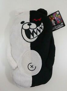 "Super Danganronpa Monokuma Zipper Pouch Bag Purse Furyu 9"" Toy Japan"