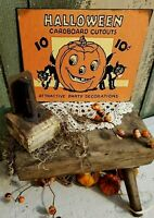 VINTAGE RETRO STYLE ADVERTISING HALLOWEEN CARDBOARD CUTOUTS 10 CENT CANVAS