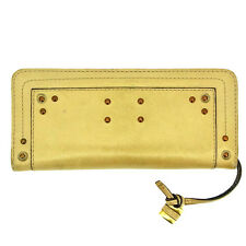 Chloe Wallet Purse Long Wallet Gold Woman Authentic Used Y280