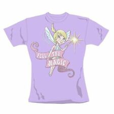 Donna T-Shirt Retrò Tinkerbell American Feel the Magic Skinny Fit Taglia Large