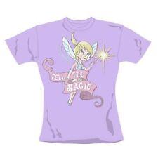 Señoras Camiseta Retro Tinkerbell American sentir la magia Ajustado Talla Grande