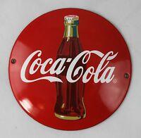 COCA COLA - Ø 12 cm - Emailleschild - Schild - Türschild - TOP - Emaille Schild