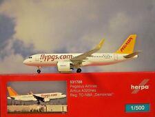 Herpa Wings 1:500 Airbus A320neo Pegasus Airlines TC-NBA 531788 Modellairport500