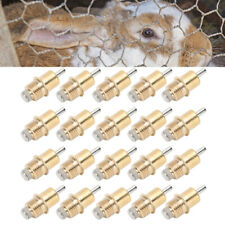 20 Rabbit Drinking Fountain With Automatic Nipple Portable Rodent Water Feeder