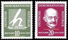 EBS East Germany DDR 1958 Max Planck Michel 626-627 MNH**