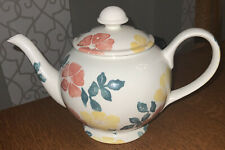 More details for a royal winton wild roses large teapot english spongeware