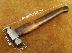 BEAUTIFUL 33CM CUSTOM HAND FORGED DAMASCUS STEEL HAMMER (4831-11