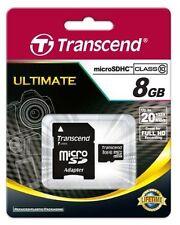 Transcend 8GB MicroSDHC Flash Card with Adaptor (Class 10)
