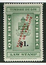 MNH $1 Quebec Law Stamp (cv $75) #QL119 (Lot #RR57)