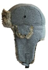 Uomo donna in tweed Trapper Hat One Size