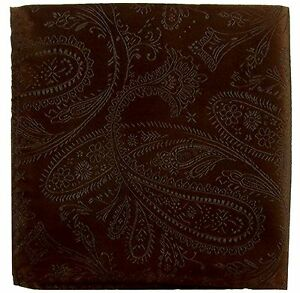 New Men's Polyester Woven pocket square hankie only brown paisley prom wedding