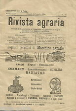 NAPOLI_AGRARIA_RIVISTA DI AGRICOLTURA_BORDIGA_CEREALI_VINO_MERCATI_PUGLIA_BARI
