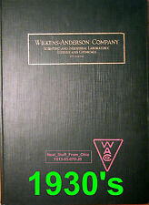 WILKENS-ANDERSON CO. SCIENTIFIC & LABORATORY SUPPLIES CATALOG (CHICAGO) - c1930'