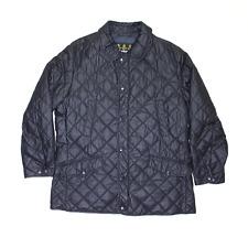 Vintage BARBOUR Donbar Black Regular Quilted Jacket Mens XL
