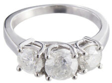 Genuine Diamond 14K White Gold Women's .50ct Diamond Ring Size 6.25