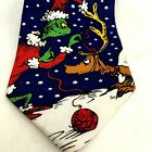 """DR SUESS """"How the Grinch Stole Christmas"""" Necktie, 56"""" Blue, (Ugly Xmas Sweater)"""