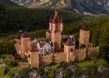 HS Vollmer 49910 Burg aus dem Mittelalter mit LED-Beleuchtung Funktions Bausatz