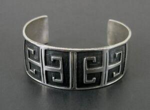 Bracelet Silver Wide Chunky with Design Sterling Silver 925 CUFF BRACELET