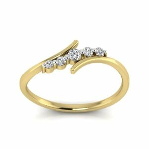 14k Yellow Gold Engagement Wedding Diamond Ring Journey Stacking Ring