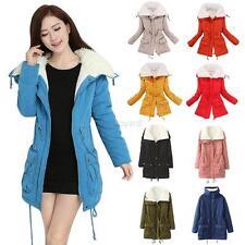 Korean Stylish Women Thicken Winter Coat Hood Parka Overcoat Warm Outwear Jacket
