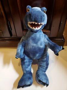 "Build-A-Bear BABW Blue T-Rex Dinosaur Plush 17"" Plush Dino"