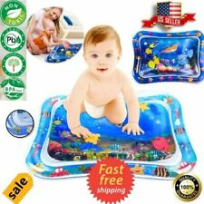 Stimulation Growth Baby Toys: Inflatable Baby Water Play Mat Tummy Time BPA Free