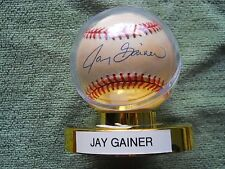 JAY GAINER AUTOGRAPHED SIGNED BASEBALL, COLORADO ROCKIES