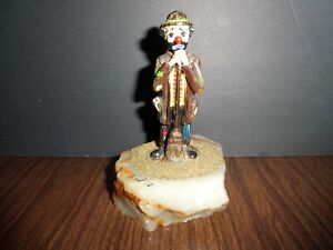 Ron Lee Clown Standing with Broom / Sweeping Signed and Dated 87