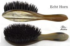 PETZ Modell Sissi HORNBÜRSTE Horndeckel hell Wildschweinborsten Haarbürste