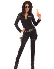 Sexy Woman Of Action S.W.A.T Team Fbi Womens Hens Party Halloween Costume Xs/S