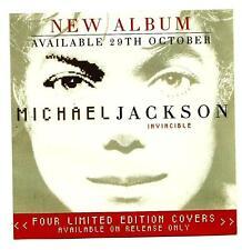 "ORIGINAL AUSTRALIAN MICHAEL JACKSON PROMO FLYER / MINI POSTER ""INVINCIBLE"""