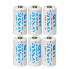 6x 3.7V CR123A 123A CR123 16340 Li-ion Rechargeable Battery For RC Toys Remote