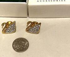 Vintage Swarovski Swan Lapel Pin or Tie Tac 2 Pc Lot