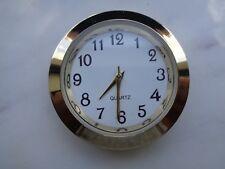"""1-7/16"""" (37MM) Hi-Qual QUARTZ CLOCK Insert, Gold Bezel, Metal Case, Arabic"""
