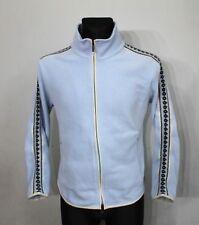 F. lli Campagnolo Fairisle Jumper Jacket Womens Size M Light Blue Poliester Wool