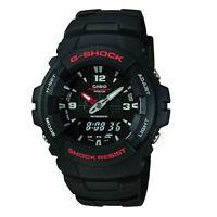 Men's Casio G-Shock black resin watch G-100-1BVMES