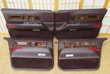 93-96 Cadillac Fleetwood Left Right Front Rear BURGUNDY Interior Door Panel SET