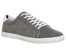 85442e9794bf3c A Genuine Men s Brandnew TOMMY HILFIGER Grey Textile Lace Up Trainers Size  ...