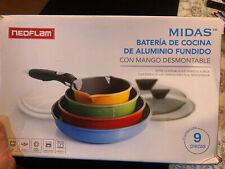 Neoflam MULTIUSO Midas NonStick Cookware Set con coperchio rimovibile maniglia &