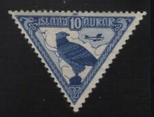 Iceland 1930 Gyrfalcon airmail Sc# C3 mint