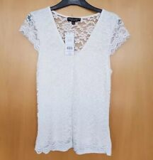 Dorothy Perkins Ivory Lace Top Size 14