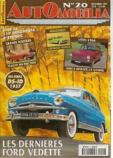 AUTOMOBILIA 20 FORD VEDETTE 1952 1954 PEUGEOT 404 INJECTION SIMCA 1959 1966