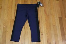 ZUMBA CROP LIKE IT'S HOT CAPRIS LET'S GO INDIGO SIZE SMALL NEW WITH TAGS