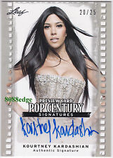 2011 POP CENTURY PREVIEW AUTO: KOURTNEY KARDASHIAN #20/25 AUTOGRAPH KIM'S SISTER
