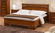 Bett Doppelbett Schlafzimmer Klassisches Bettgestell Nussbaum Holz Möbel Italien