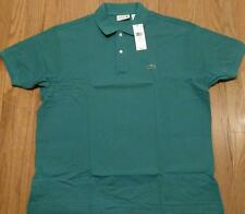 Mens Authentic Lacoste Classic Pique Polo Shirt Emerald Green 8 3XL $89