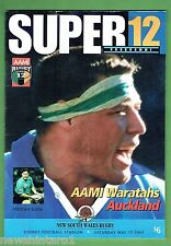 #FF. WARATAHS V  AUCKLAND  RUGBY UNION PROGRAM  17/5/1997, SUPER 12