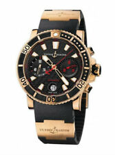 Ulysse Nardin Marine  Chronograph 18K Rose Gold 42 MM Ref:8006-102 Ret: $35,000