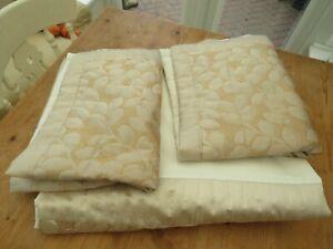 Dunelm Gold & Cream Quilted Double Duvet Set