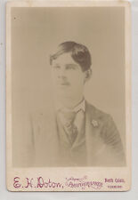 Antique CDV Photo Handsome Young Man Stylish Haircut